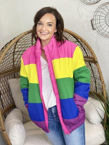 The Lisa Puffer in Rainbow