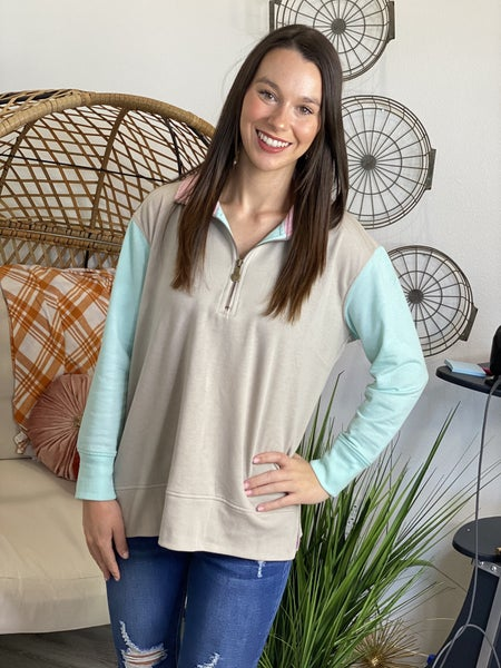 The Brooke 3/4 Zip Pullover - 2 Colors