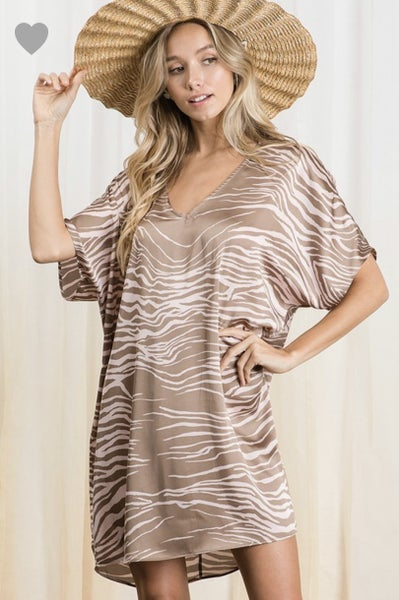 The Barkley Dress in Taupe