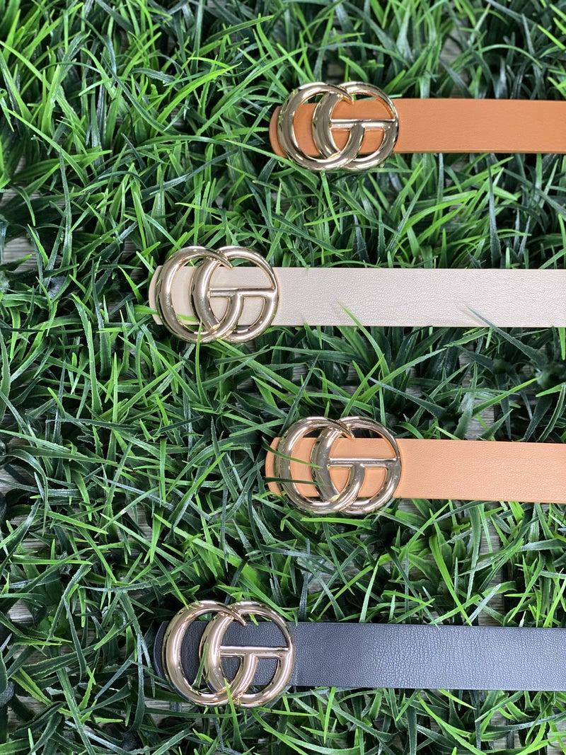 Double G Skinny Belts