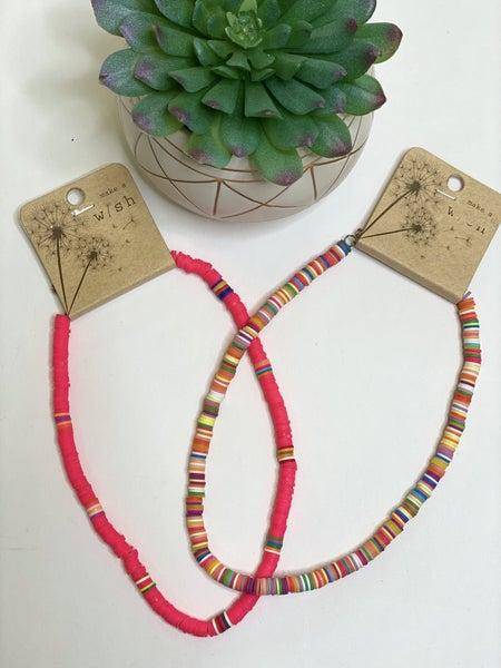 Trendy Disc Necklace- 2 Colors