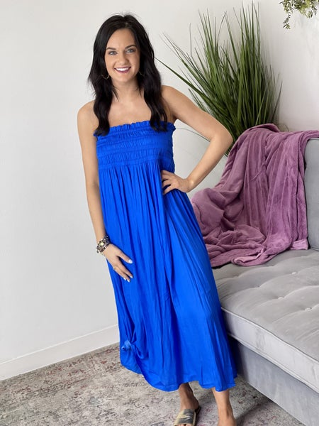 The Mallory Maxi Skirt Combo in Blue