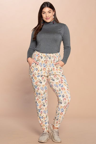 The Colorful Spots Curvy Pants