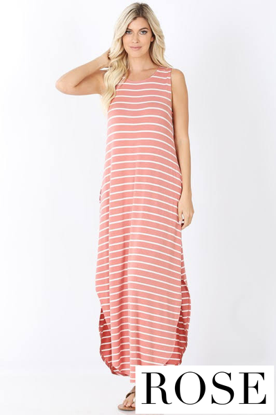 The STEAL Striped Tank Maxi