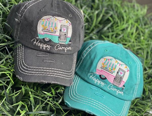 Happy Camper Patch Hat-2 Colors