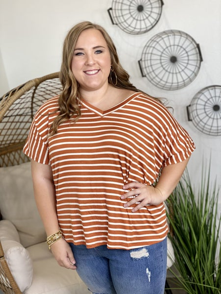 Curvy Double V Top in Copper