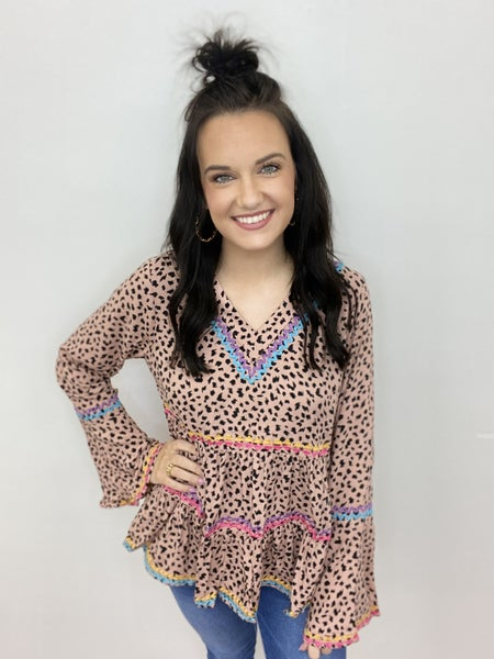 The Janie Top in Mocha-All Sizes