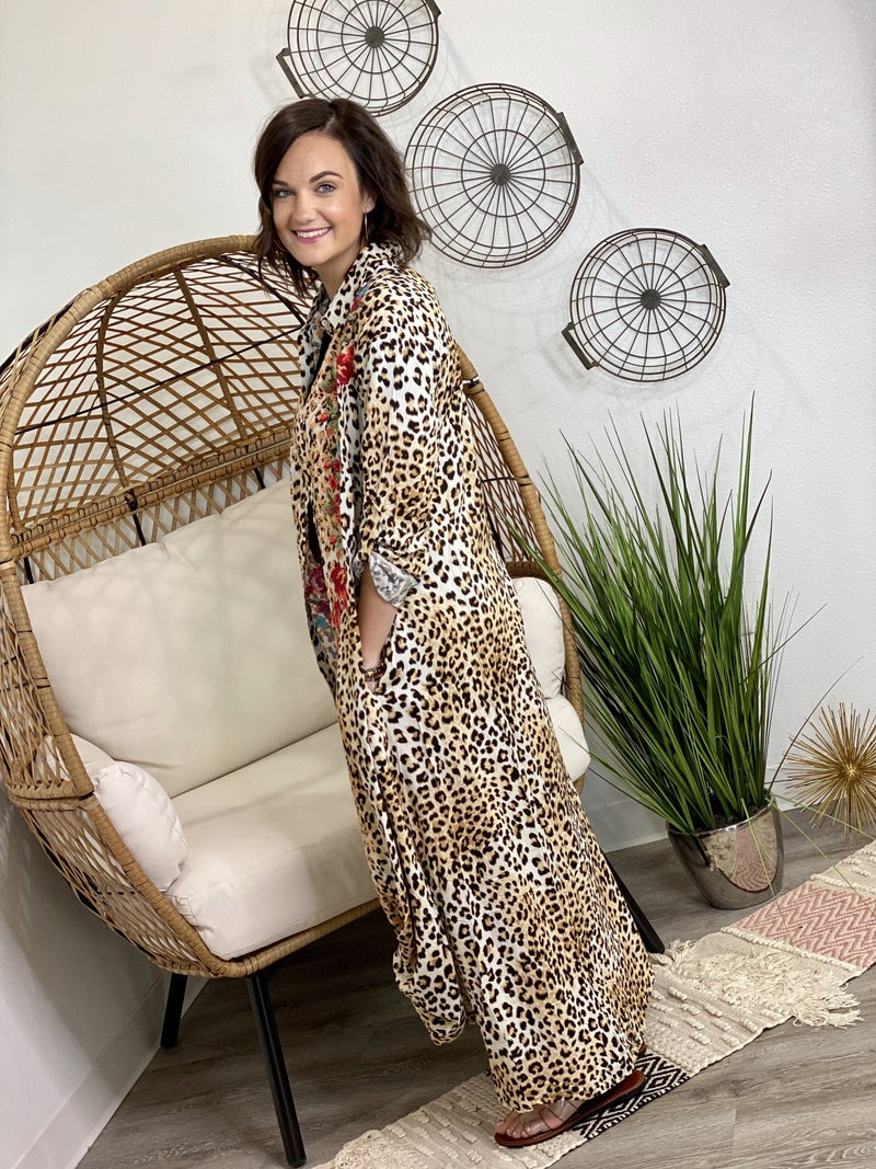 The Leo Embroidered Duster