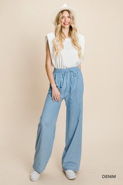 The Denim Striped Pants