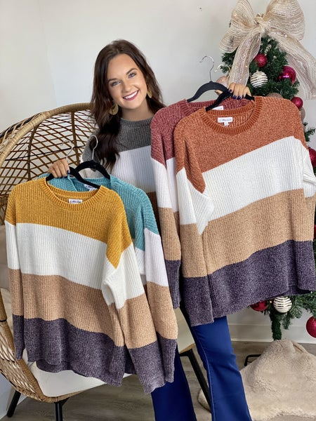 The Color Block Perfection Sweater - 5 Colors