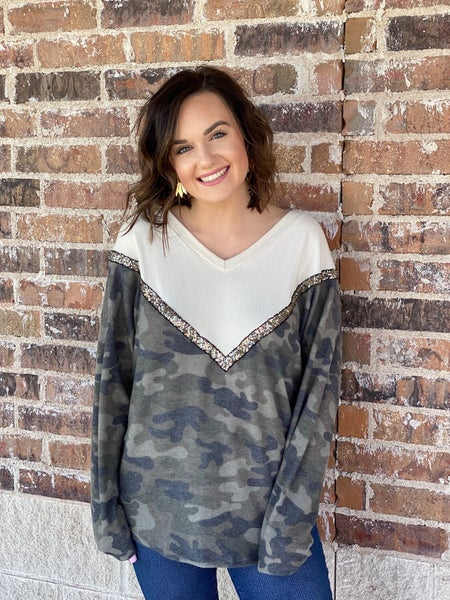 -The Camo Glam Top