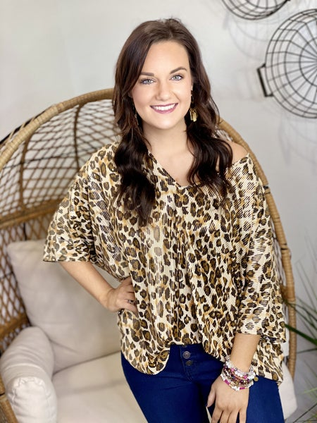 The Leo Glitz Poncho Top