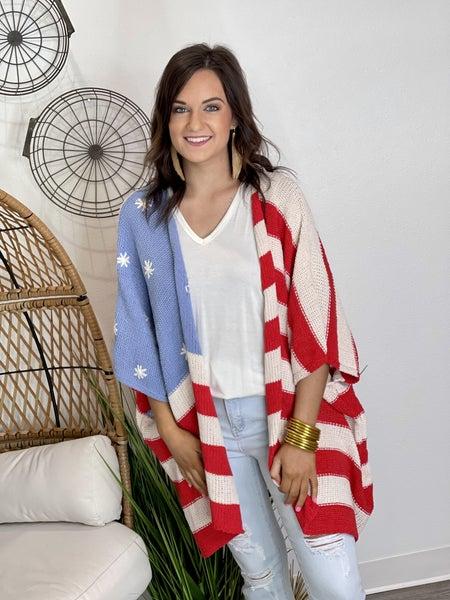The USA Flag Cardigan
