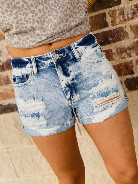 The Bleached Denim Shorts