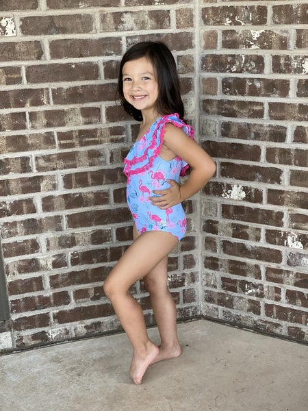 Kids Flamingo Swimsuit
