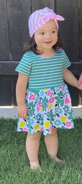 Sweet Green Floral Dress