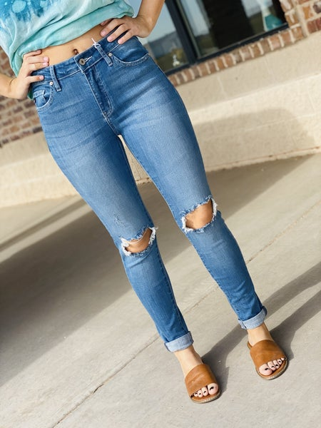 The Double Cuff Skinnies