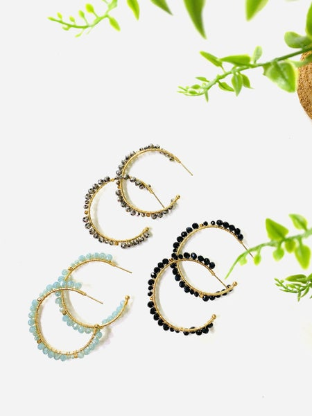 The Shimmer Hoops-3 Colors
