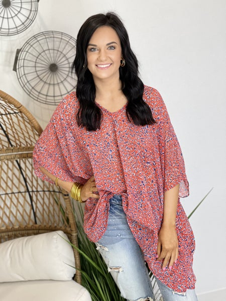 The Memorial Poncho Top