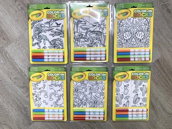 Coloring Socks- 12 Styles