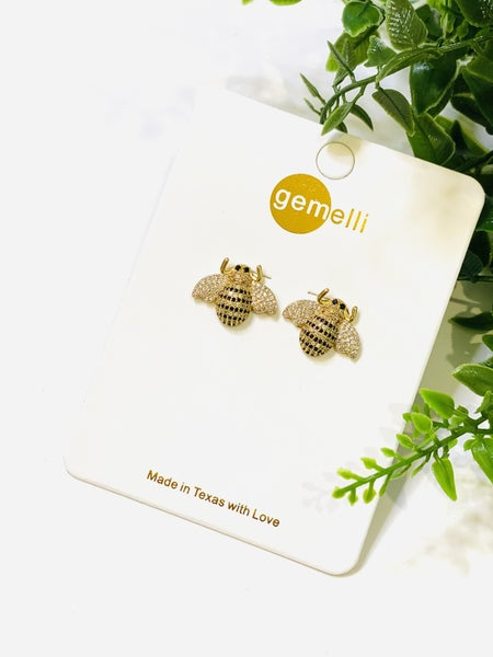 Natural Bee Studs