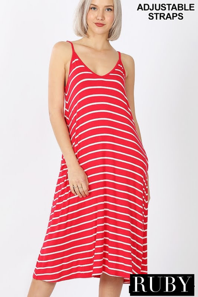 The STEAL Lexie Striped Midi