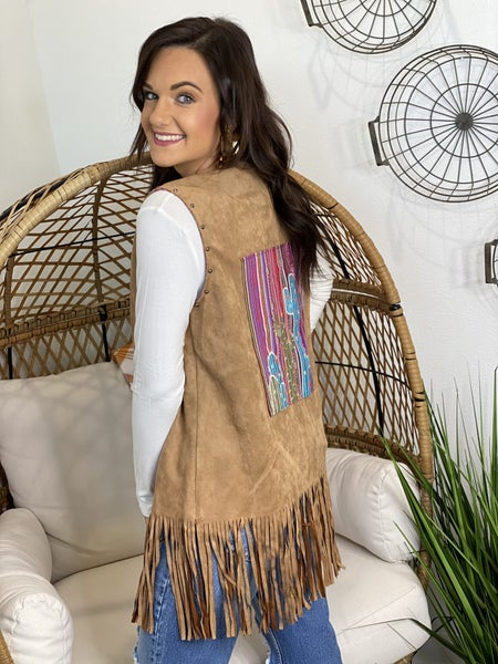 The Serape Fringe Vest