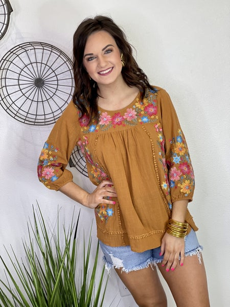 The Falling for Floral in Toffee-All Sizes