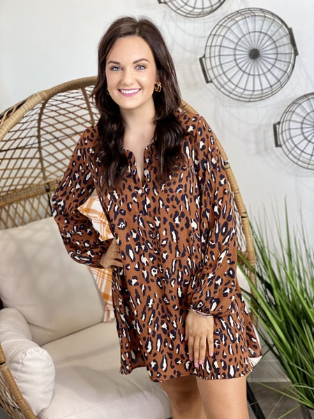 The Caramel Leo Tunic Dress