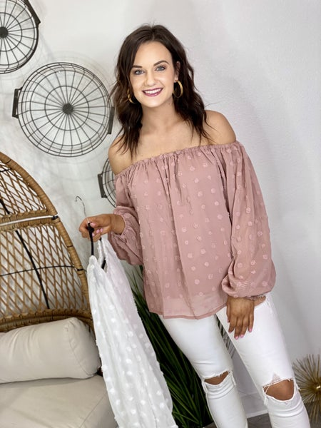 The Dot Off The Shoulder Top - 2 Colors