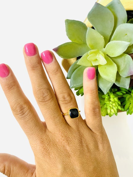 The Black Onyx Gem Ring