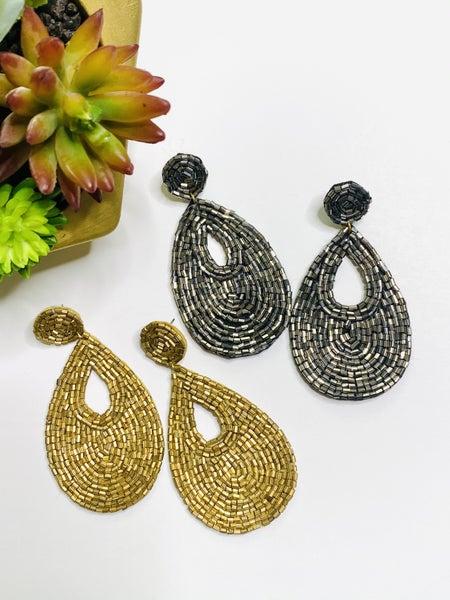 Surprise Steal-Seed Bead Glam Earrings