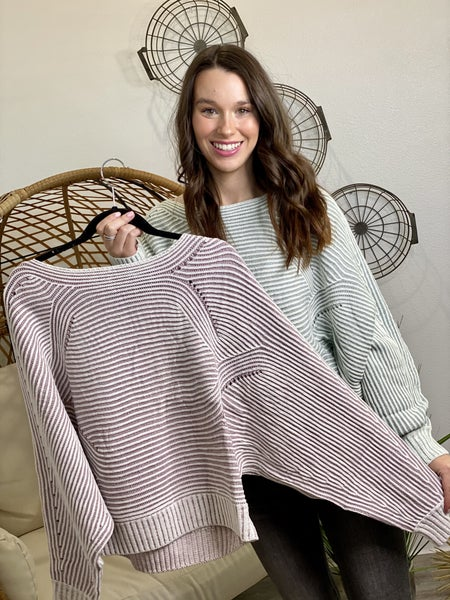 The Striped Shay Pullover-2 Colors