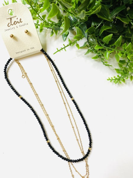 The Black and Gold Layered Necklace