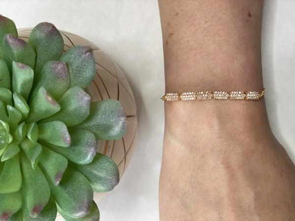 Dainty Cubed Cord Bracelet