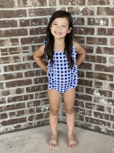 Kids Gingham Swimsuit