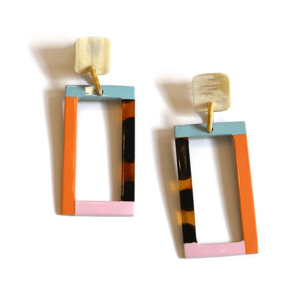 Neutral Block Statement Earrings