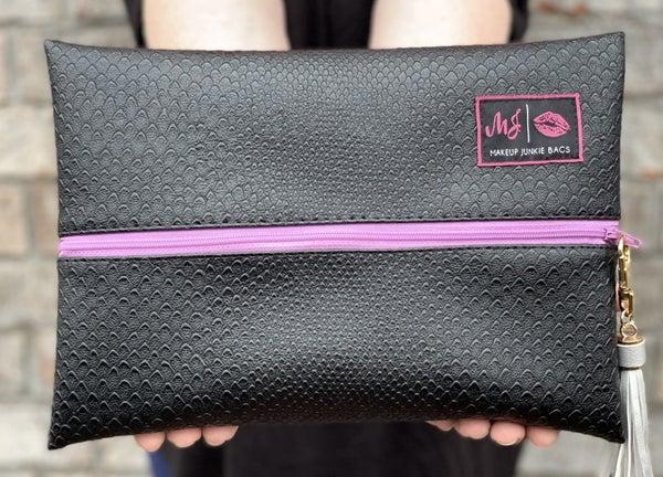 The Black Cobra (Lilac Zipper) MJ Bag - 4 Sizes