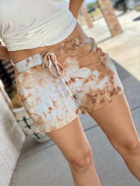 The Dyed Lounge Shorts in Copper