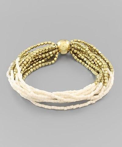 Multi Row Bead Bracelet-3 Colors