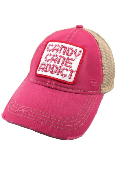 Pink Candy Cane Addict Hat