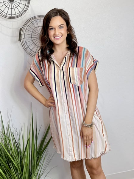 The Ombre Striped Dress