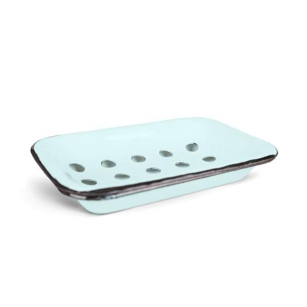 Farmhouse Soap Dish in Aqua