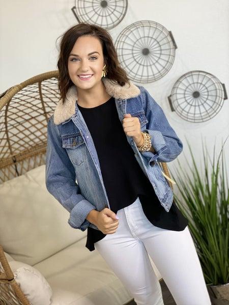 Removable Fur Denim Jacket