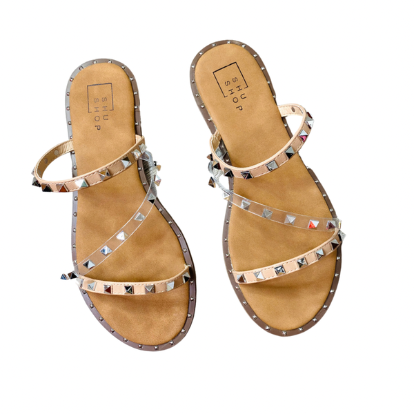 The Belara Studded Sandals