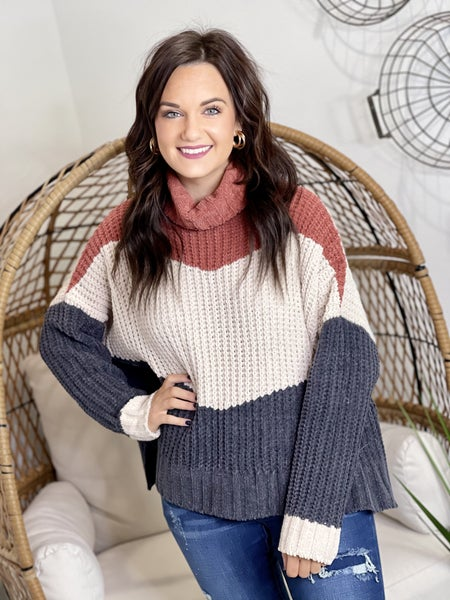 The Ginger Block Sweater