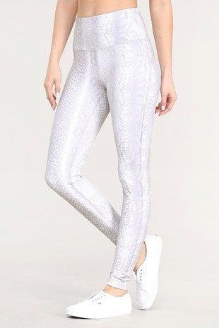 The Pale Snake Print Leggings