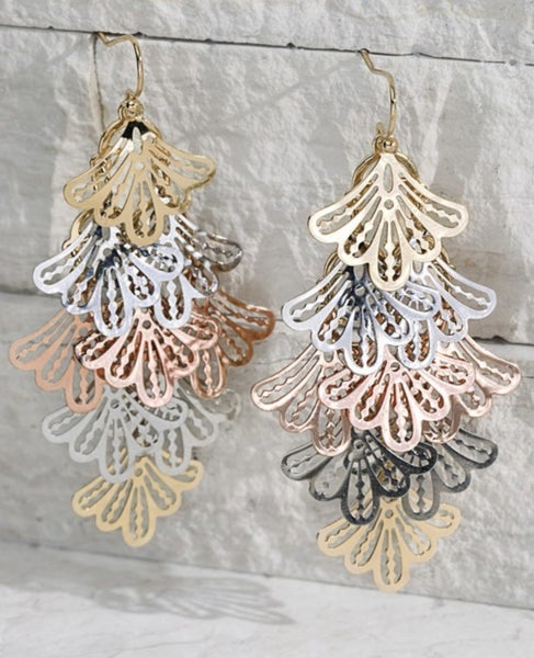 Textured Leaves Earrings