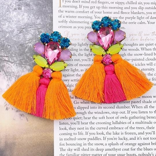 The Cora Orange Earrings
