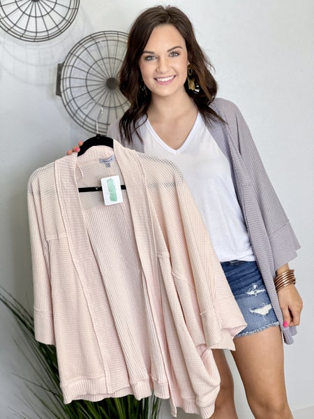 The Waffle Knit Cardigan - 2 Colors